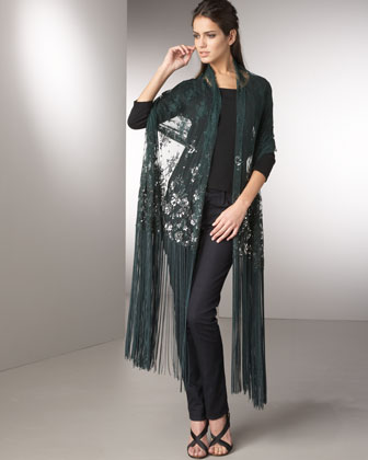 Sequin Lace Shawl