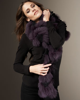 Fur Knit Scarf