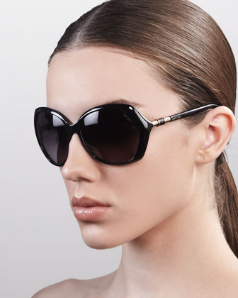 Justine Sunglasses, Shiny Black