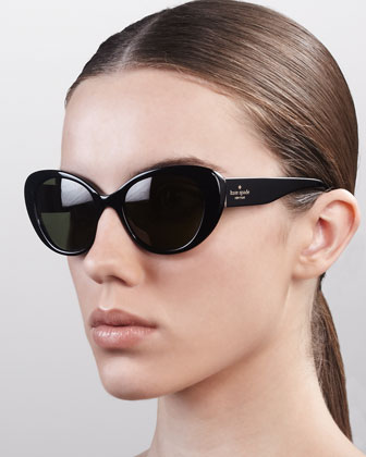 franca cat-eye sunglasses, black
