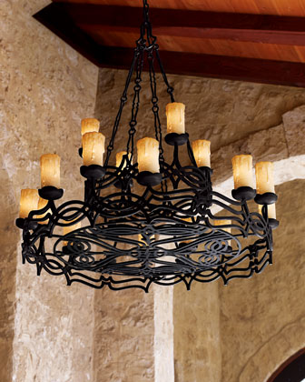 Wrought Iron 4-light Mini Chandelier | Overstock.com