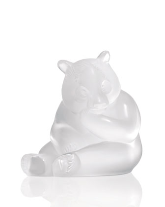 Clear Panda Figurine