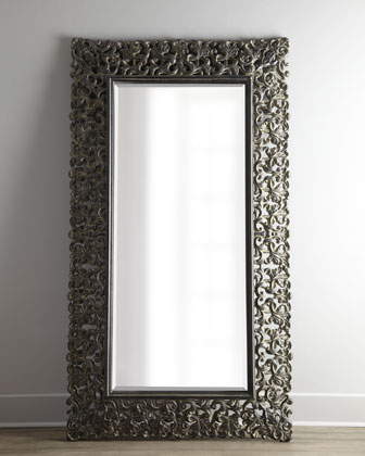 Burnished Charcoal Floor Mirror