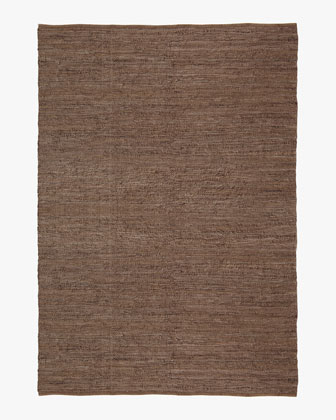 Woven Leather Rug