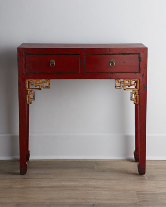 Antique Wooden Console Table