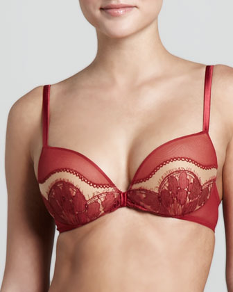 Shanghai Push-Up Bra, Red