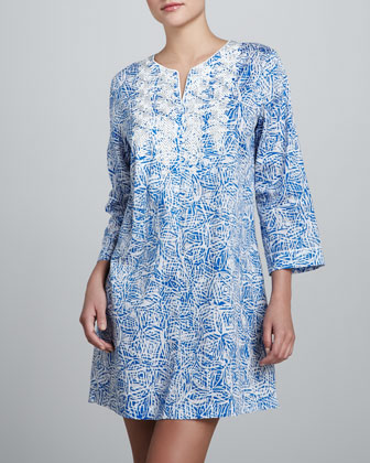 Modern Vintage Shirt Gown, Blue