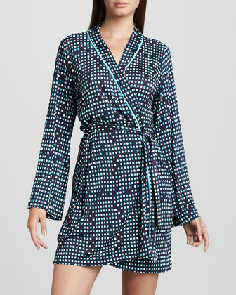 Bella Dot-Print Robe