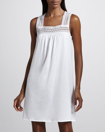 Mia Lace-Trim Tank Gown