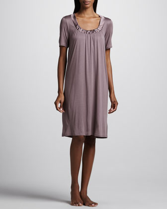 Esme Short-Sleeve Jersey Gown