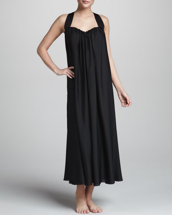 Georgette Sleepwear Gown, Black