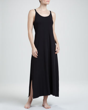 Whisper Cotton Gown, Black, Long