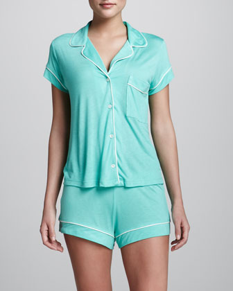Gisele Short Jersey Pajamas, Spearmint