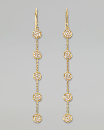 Stardust Linear Pave Flower Chain Earrings