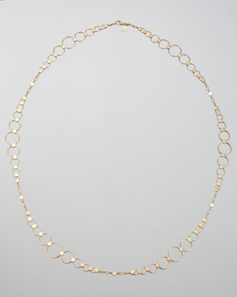 Gold Dot Large-Link Sautoir Necklace, 36