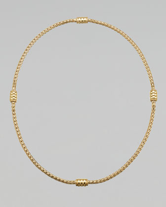 Gold Bedeg Station Necklace, 18