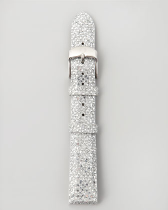 18mm Sequin Watch Strap, Silver