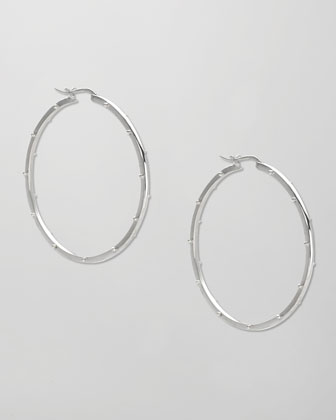 Large Classic Ball Hoop Earrings