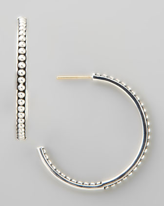 Caviar Bead Hoop Earrings