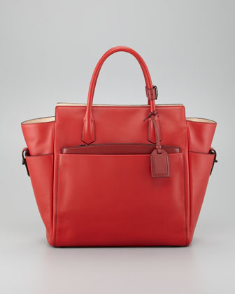 Atlantique Tote Bag, Crimson Red