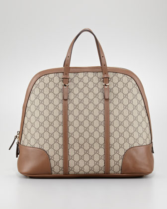 Bugatti North-South Dome Bag, Beige/Medium Brown