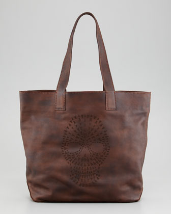 Skull Tote Bag, Maple