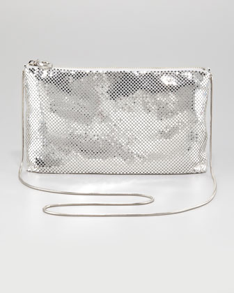 Brooke Metal Mesh Hobo, Silver