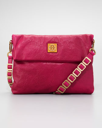 Louisa Messenger Bag, Fuchsia
