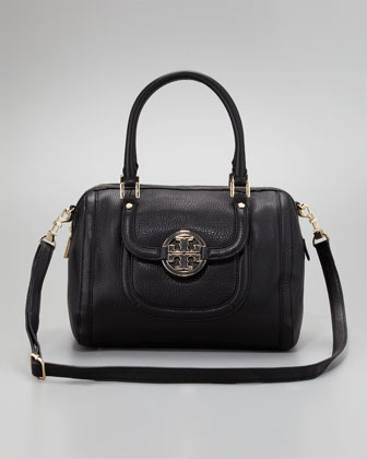 Amanda Middy Satchel Bag, Black
