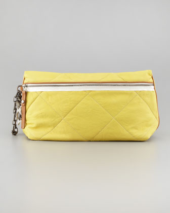 Amalia Quilted Clutch Bag