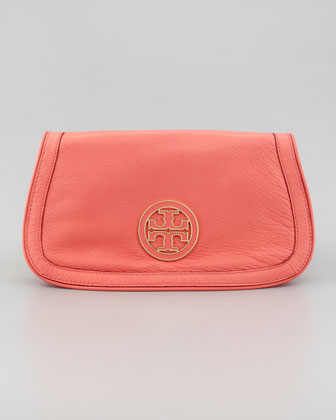 Amanda Logo Clutch Bag, Strawberry