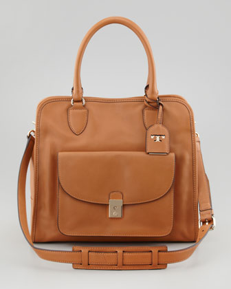 Priscilla Pocket Tote Bag, Tan