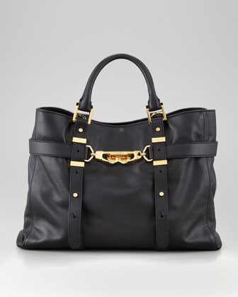 Hutton Medium Tote Bag, Black