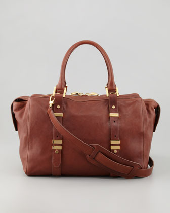 Charlie Small Tote Bag, Chestnut