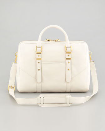 Lee Large Satchel Bag, French Beige