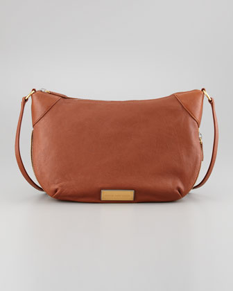 Washed Up Leather Messenger Bag, Cinnamon Stick
