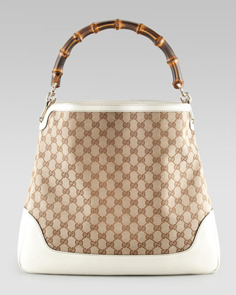 Diana GG Large Hobo Bag, White