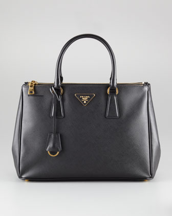 Saffiano Small Double-Zip Executive Tote Bag