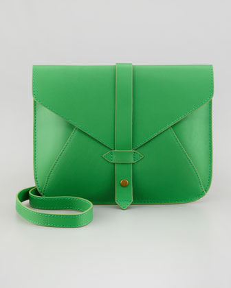 Church Street Envelope Crossbody Bag, Green/Yellow