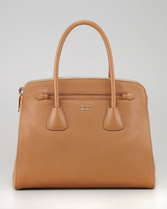 Saffiano Cuir Large Double Zip Tote Bag