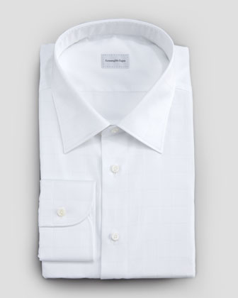 Windowpane Button-Down Shirt