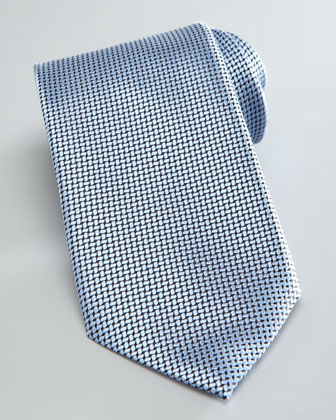 Textured Solid Tie, Light Blue
