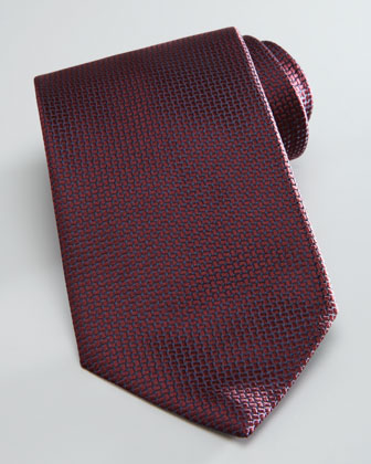Textured Solid Tie, Wine
