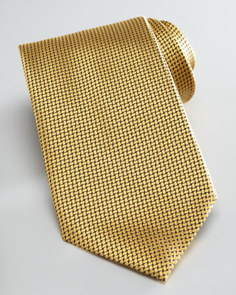 Textured Solid Tie, Yellow