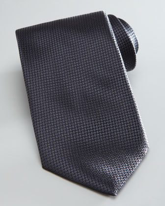 Textured Solid Tie, Charcoal