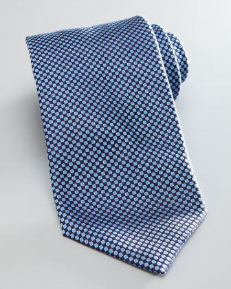 Mini Diamond Tie, Navy