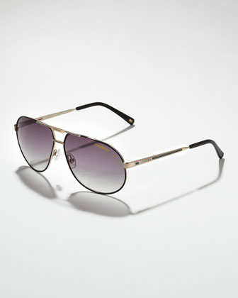 Master 2 Aviator Sunglasses, Golden/Black