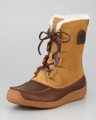 Chugalug Fur-Lined Boot, Brown