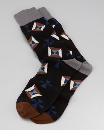 Solitaire Men's Socks, Black
