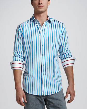 Ishmael Striped Sport Shirt